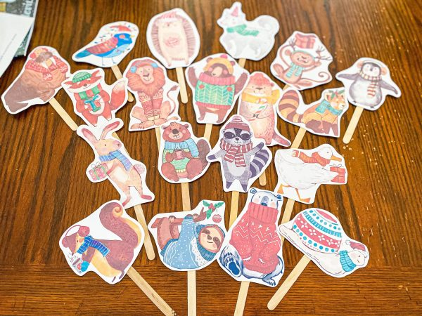 Winter Wonderland Puppets - Printable for Preschoolers
