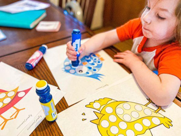 Bird Dot Marker Printable Pack for Homeschool Pre-K & Toddlers