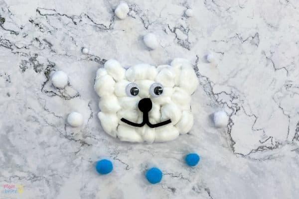 Cotton Ball Polar Bear Craft