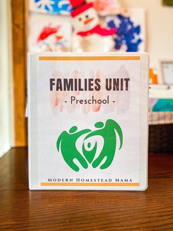Families Preschool Unit | Families Preschool Theme Homeschool Pre-K Unit Study for the Early Years