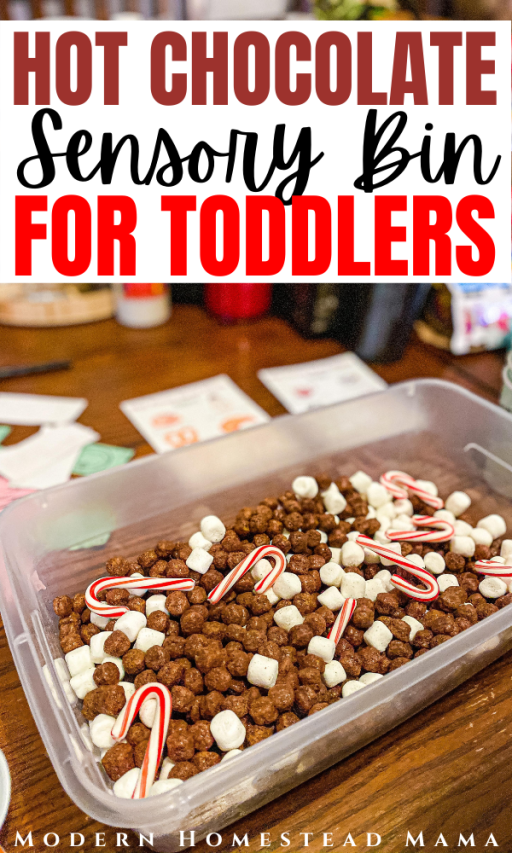 Hot Chocolate Sensory Bin for Toddlers and Preschoolers | Modern Homestead Mama