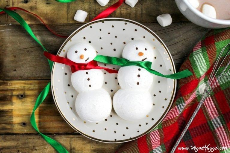 Snowman Meringue Cookies