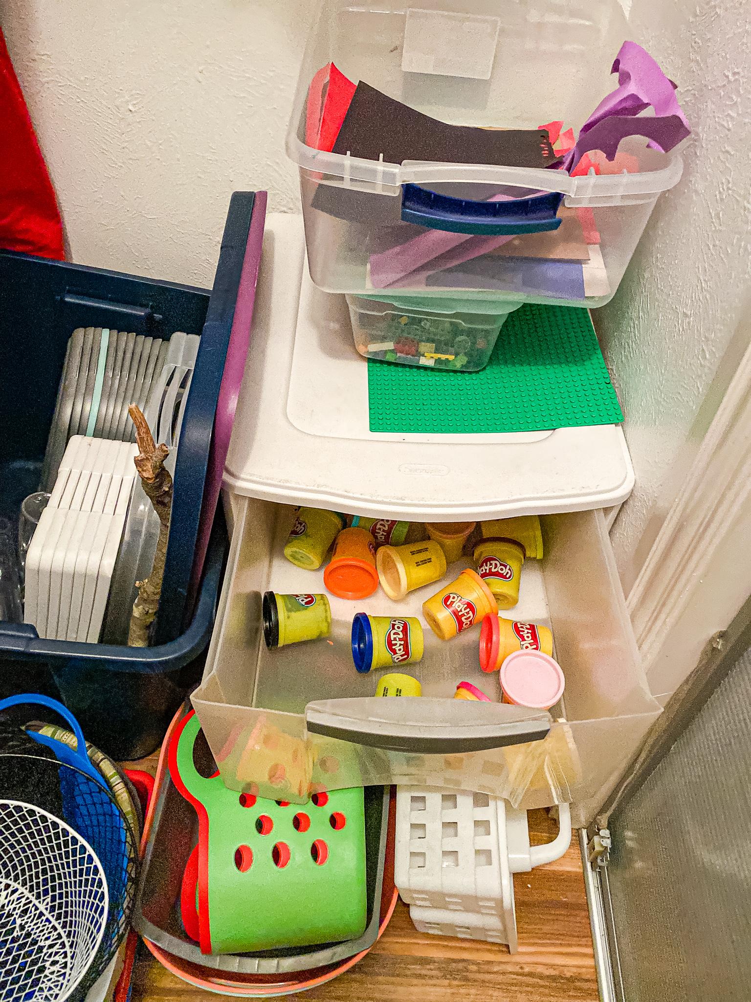 Homeschool Closet - playdough drawer