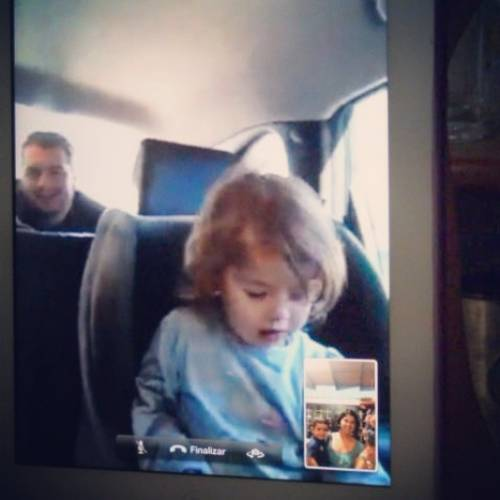 4 - The drive is also Mia's Skype time to Nana in Venezuela - no time is wasted!