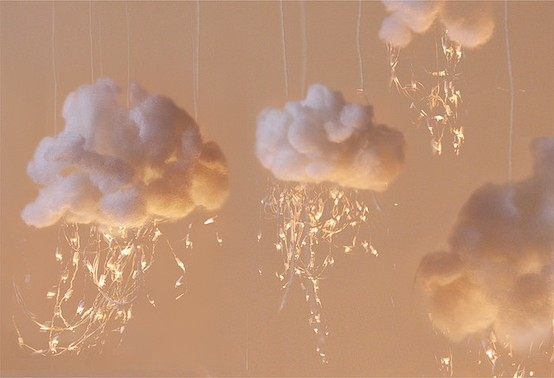Glowing cotton clouds