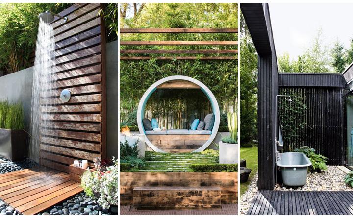 Outdoor Showers & Garden Sanctuaries