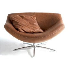 Brown Swivel Chair Hanging Tree Swing Gigi Modern Intentions Shop Furniture In Yak Leather