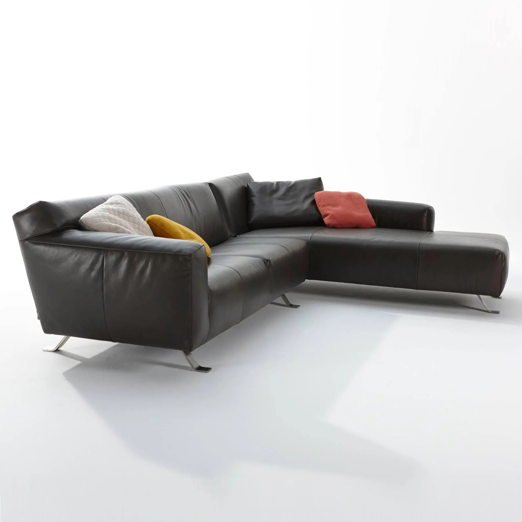 sofa w chaise wooden cushion cover designs santiago lounge modern intentions shop