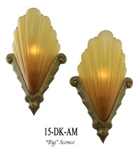 Large Art Deco Sconce with French Shade | Modernism