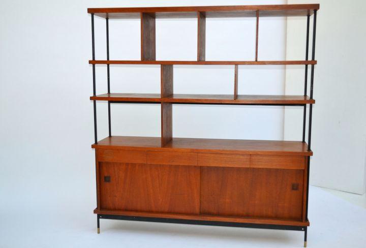 Shelving Unit With Storage Italian Design Midcentury