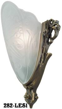 Art Deco Slip Shade Medieval Sconce | Modernism