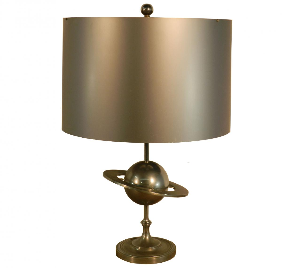 Saturn Base Lamp In Polished And Matt Metal Ca 1970s