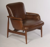 Pair Of Mid Century Modern Leather Club Chairs | Modernism