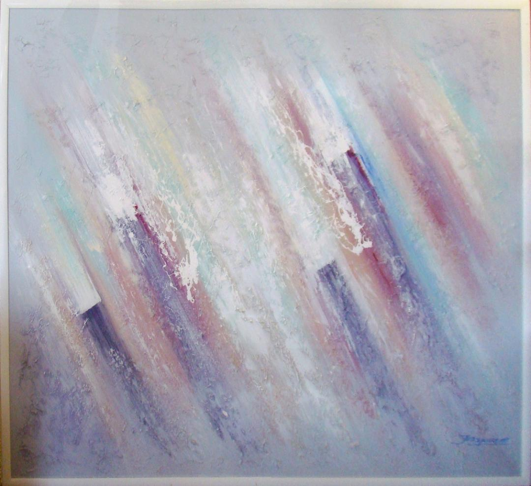 Modernist Acrylic Painting In Muted Pastel Tones  Modernism