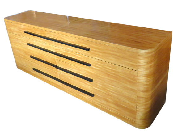 Pair American Art Deco Streamline Chests of Drawers  Modernism