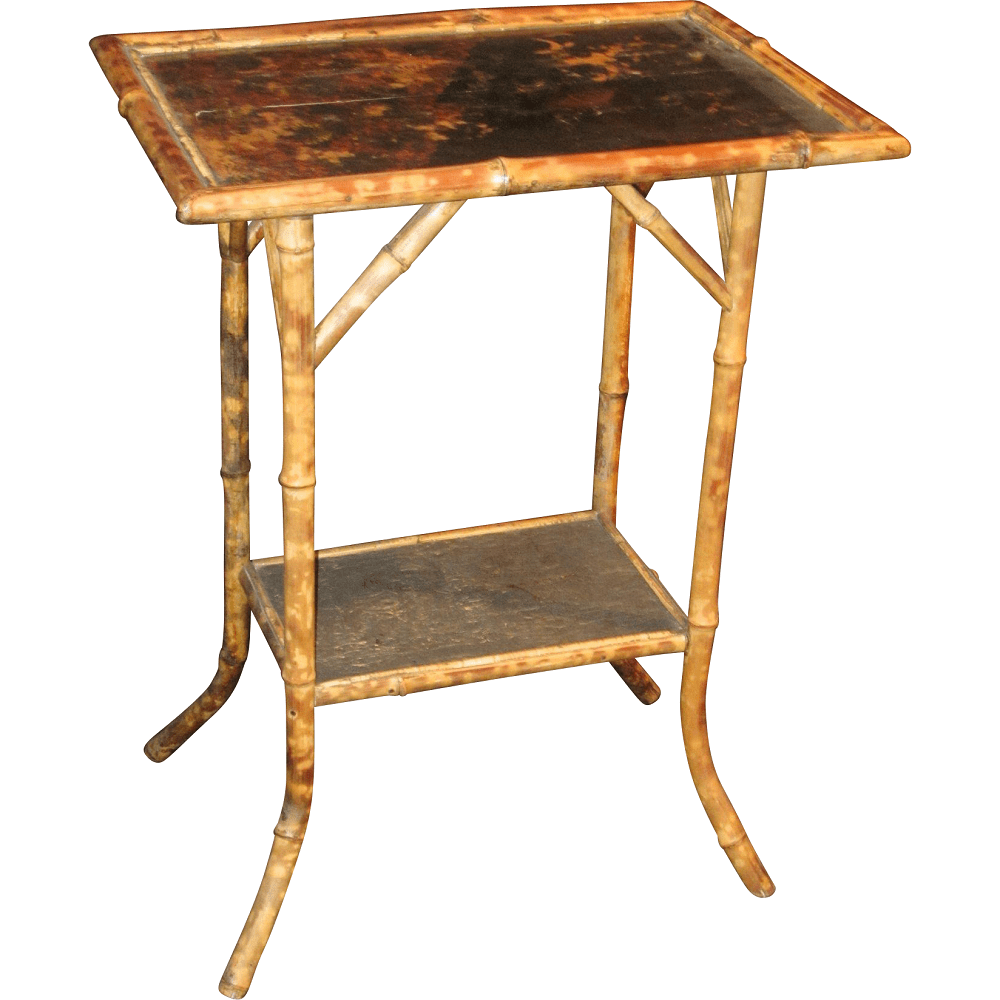 Art Nouveau Bamboo Chinoiserie Side Table  Modernism