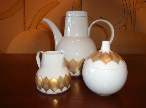Bjorn Winblad Rosenthal Studio Line Lotus Pattern China  Modernism