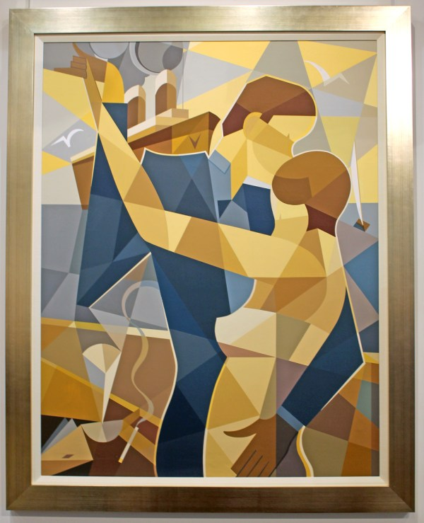 Cubist Contemporary Painting Dancing Couple Modernism