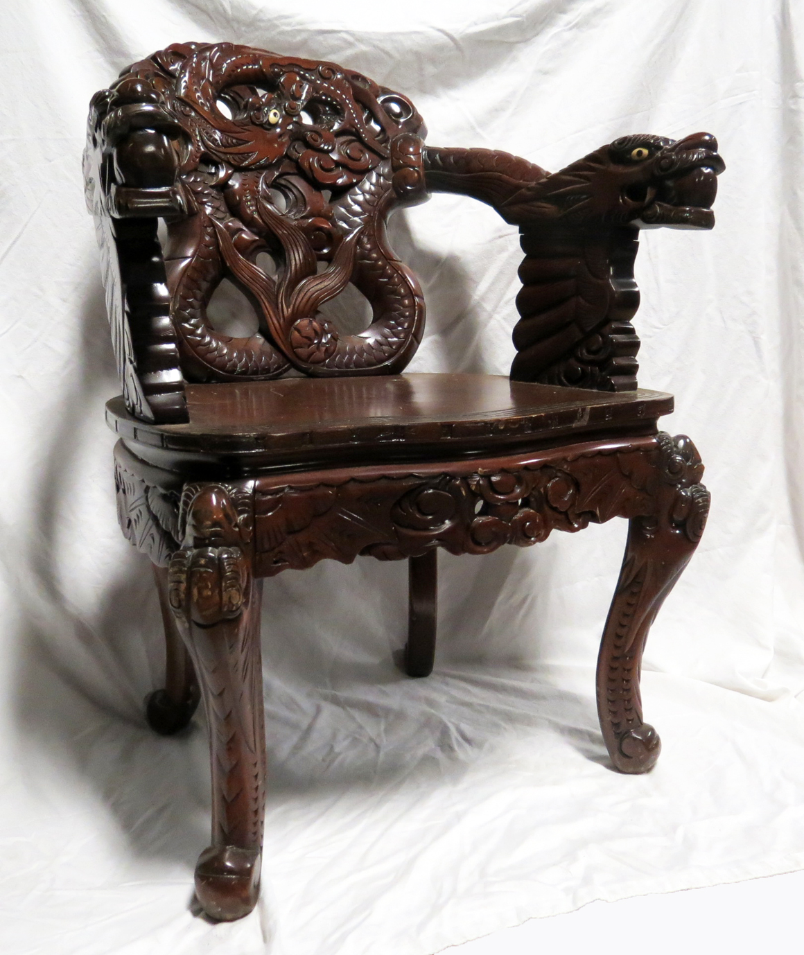Dragon Chair Chinese Carved Dragon Arm Chair Modernism