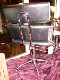 Sleek Black & White Mid Century Modern Swivel Salon Chairs ...