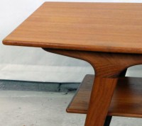 1950's Danish Modern Teak Coffee Table | Modernism