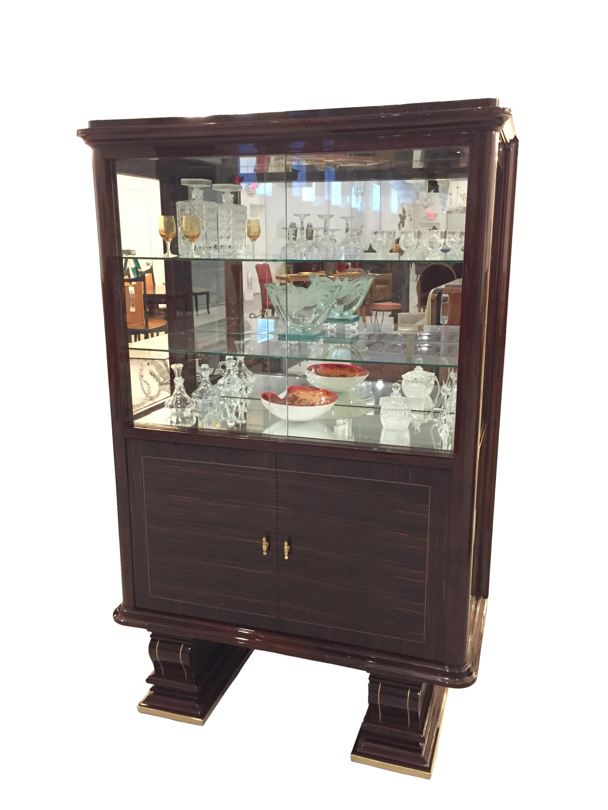French Art Deco Vitrine  Display Cabinet  Modernism