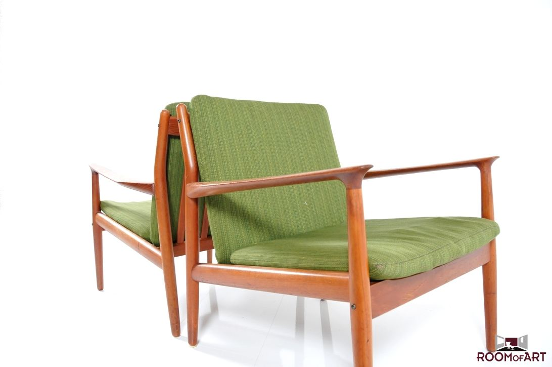 bin bags chairs ergonomic chair calculator pair of easychairs in teak by grete jalk | modernism