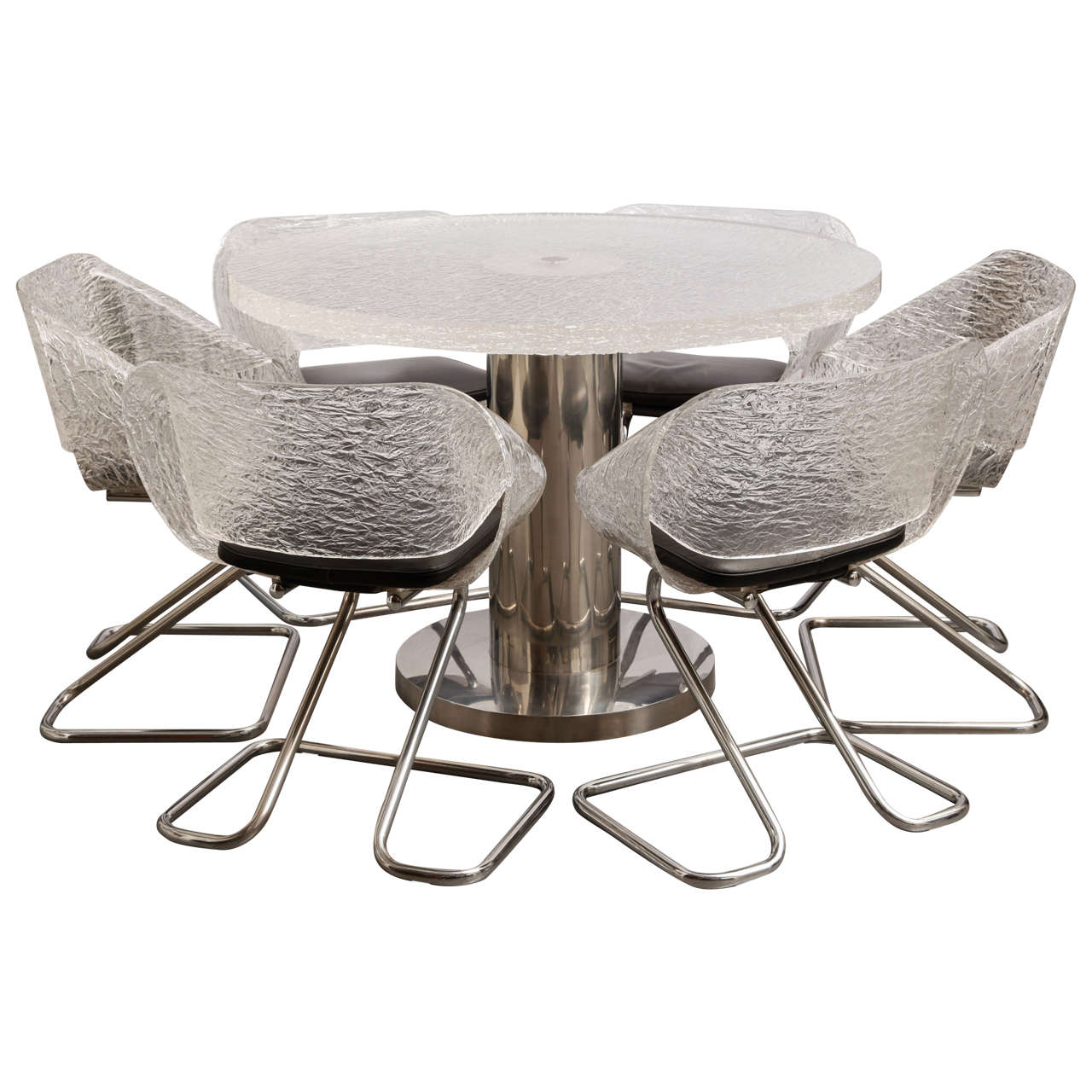 dining chairs italian design best affordable office chair guzzini plexiglas table and six