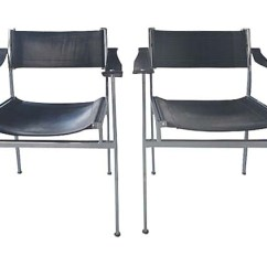 Leather Sling Chairs Covers For Ikea Nils Chair Mid Century Modern Italian Chrome & | Modernism