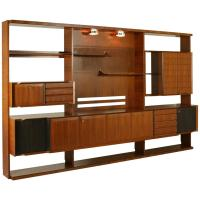 Italian Design Mid Century Modern Wall Unit in Rosewood ...