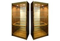 Pair Of Mastercraft Zebrawood Display Cabinets | Modernism