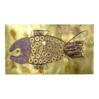 Mid-Century Brass and Copper Fish Wall Sculpture | Modernism