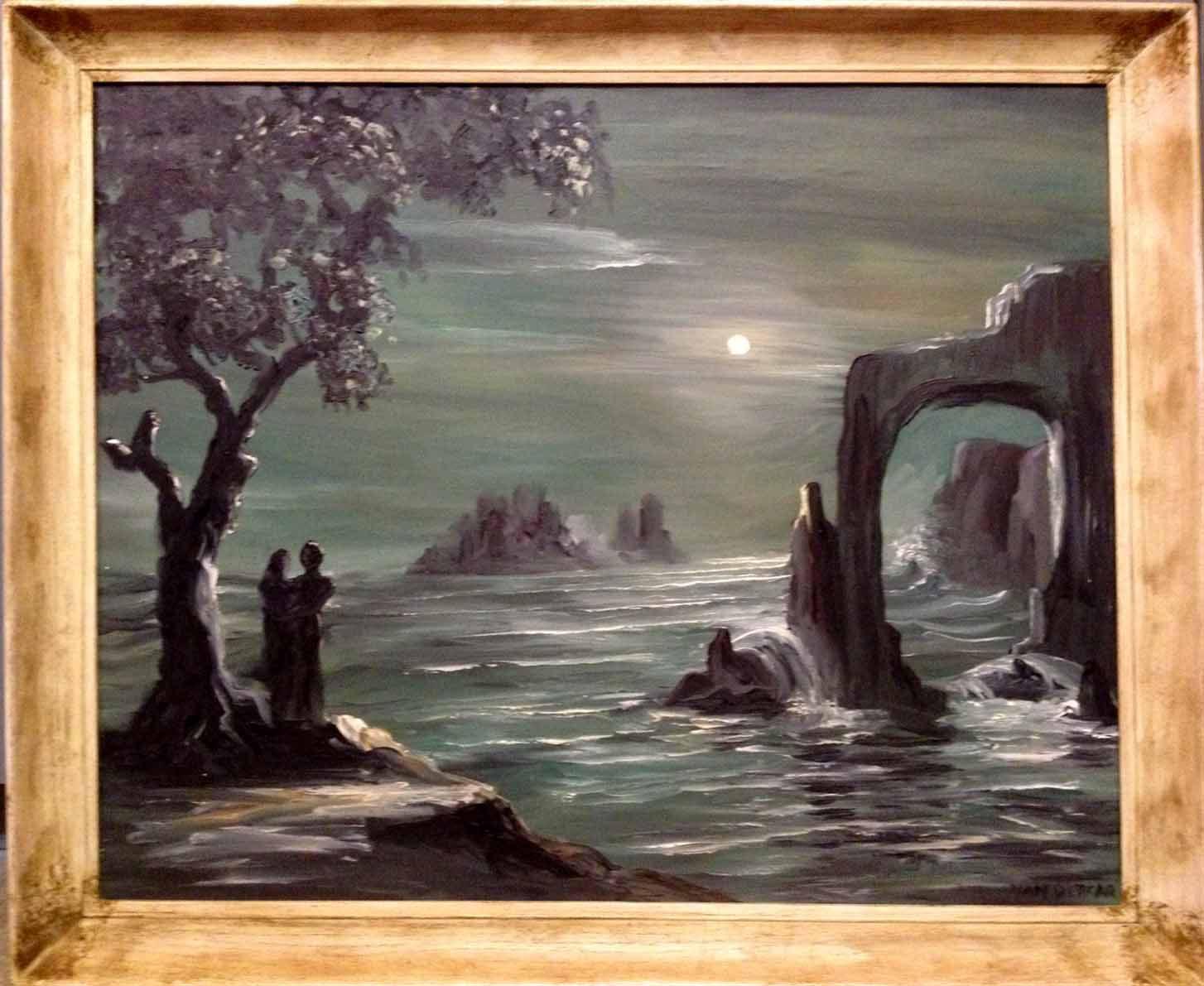 Mid Century Modern Painting by Lewis Vandercar Miami Magic  Modernism