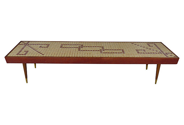 c.1960 mid century modern tile top coffee table | modernism