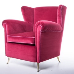Sofa Magenta Cote Sofas Pair Fifties Armchairs Upholstery Mcm Modernism