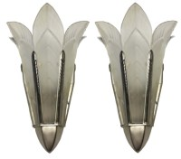 A Pair Of Signed Sabino French Art Deco Wall Sconces ...