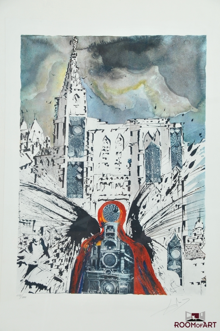 Salvador Dali Alsace Lithograph Surrealist Print