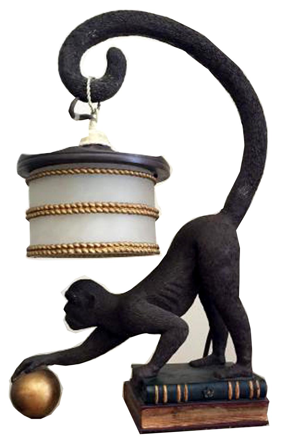 Amazing Art Deco Monkey Lamp American 1940s  Modernism