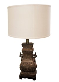 Chic Antique Bronze Table Lamp Over-the-Top | Modernism