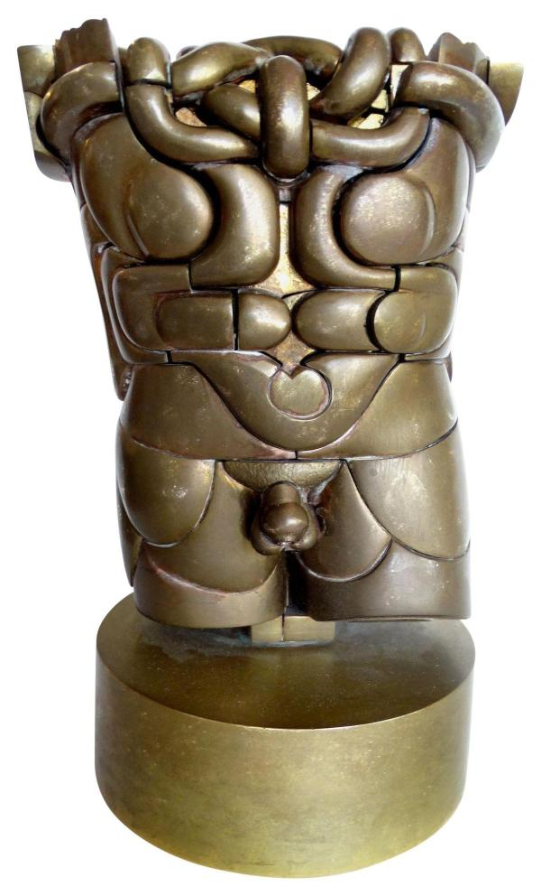 Goliath Bronze Puzzle Sculpture Miguel Ortiz Berrocal