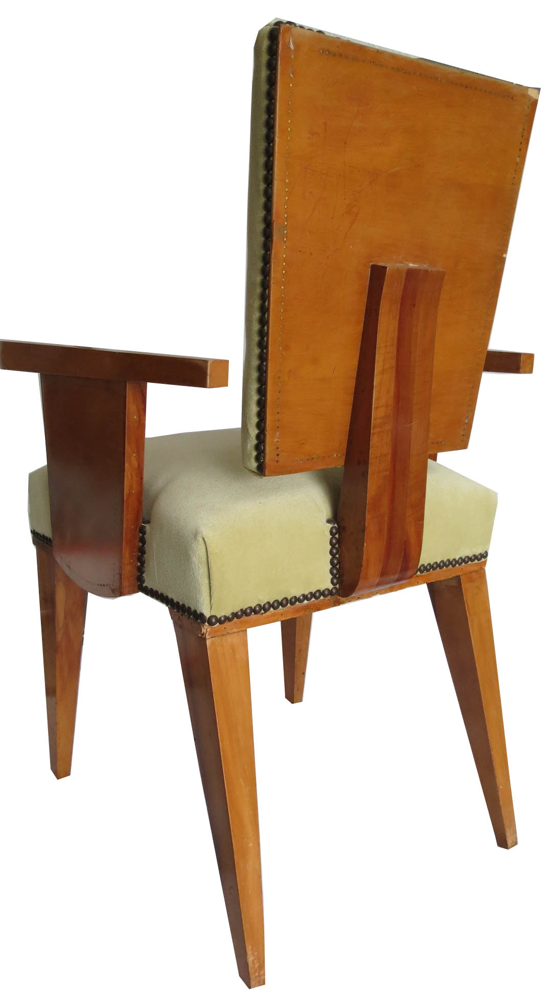Pair of French Art Deco Arm Chairs by Andre Sornay  Modernism