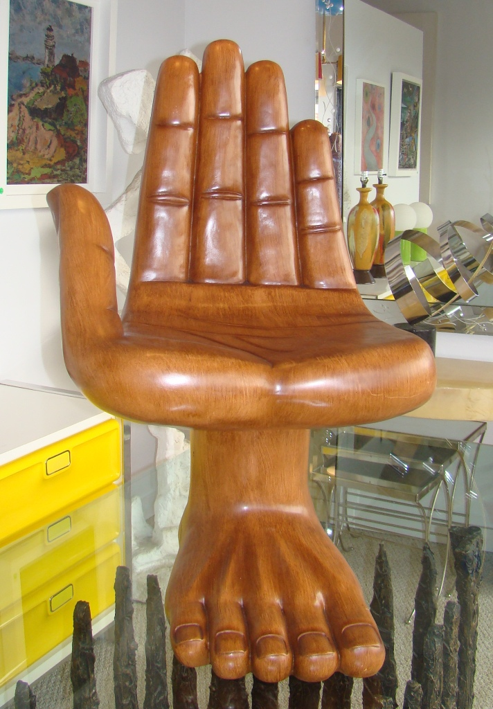 Hand Chair Sculpture In The Style Of Pedro Friedeberg