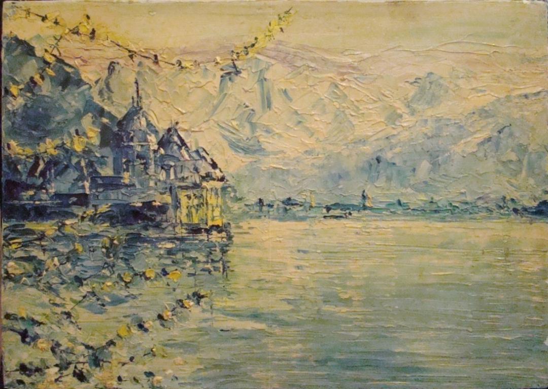 Small Impressionistic Landscape Impasto Oil Painting