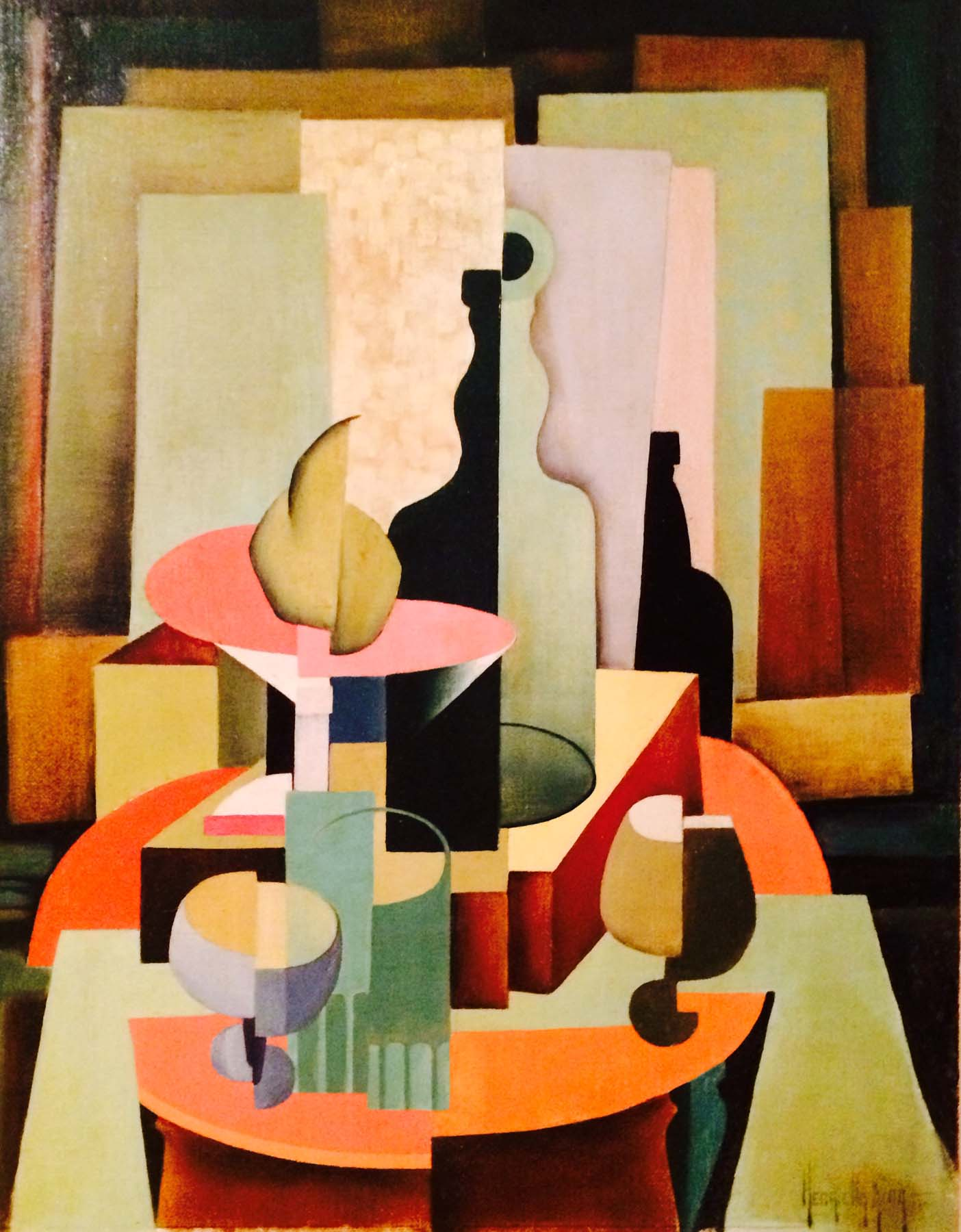 Henrietta M King Cubist Still Life American California