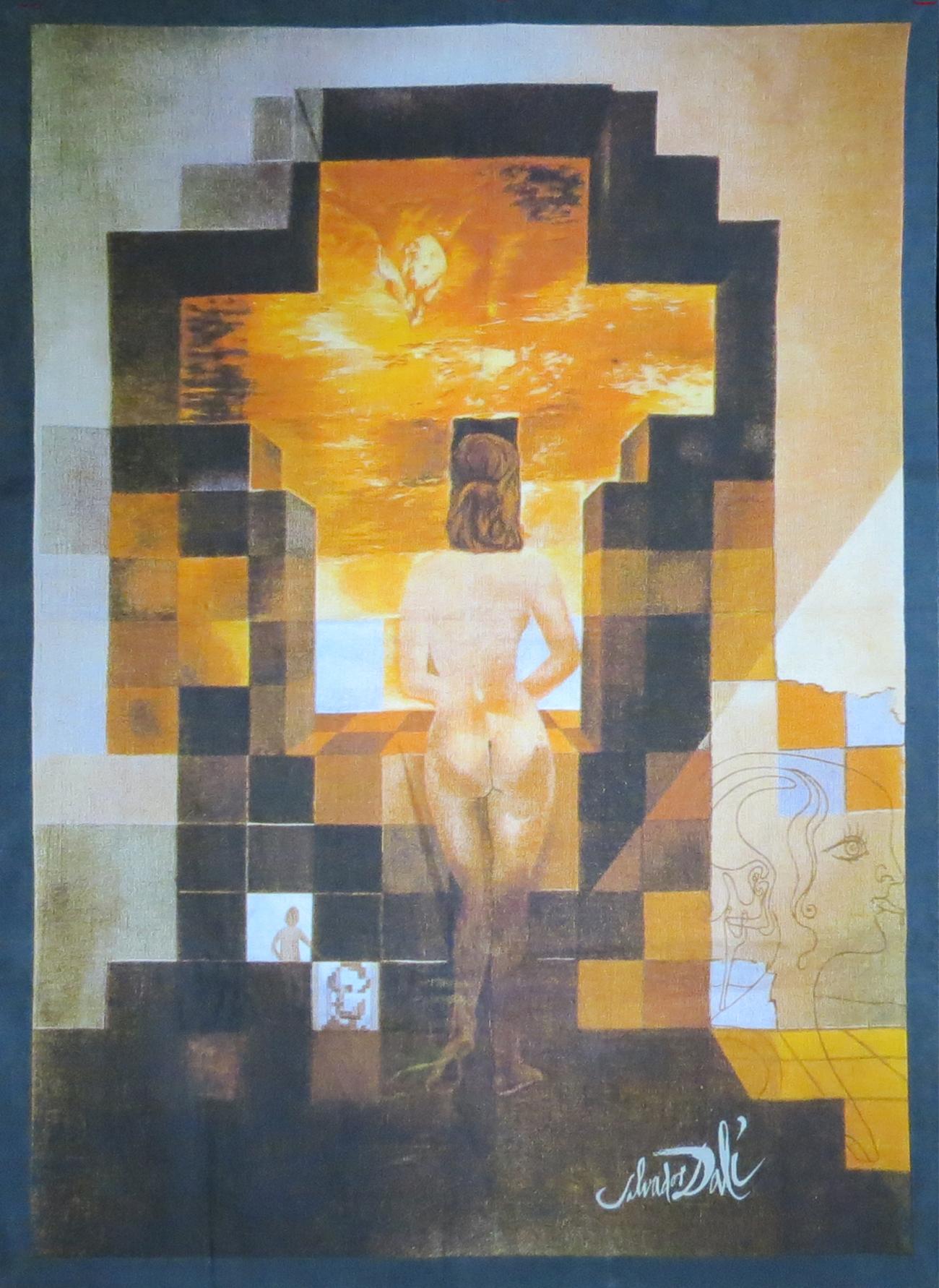 Salvador Dali Lincoln In Dalivision Tapestry Modernism
