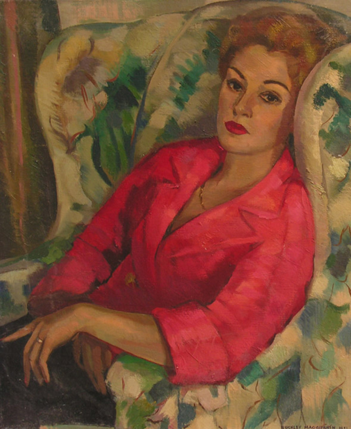Buckley Macgurrin Art Deco Portrait Oil American  Modernism