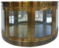 Mastercraft Mid-Century Brass Demilune Cabinet | Modernism
