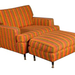 Chairs And Ottomans Upholstered Jens Risom Chair Unique 1950s Modern Lounge Ottoman Modernism