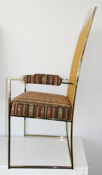 Set Of Milo Baughman Mid Century Modern Chairs, Brass ...