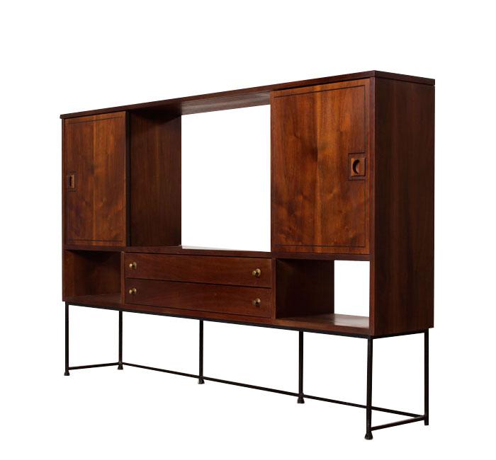 Mid Century Modern Room Divider Bookcase By Stanley